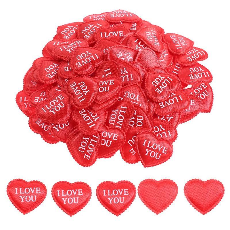 100 шт./компл. шелковые розы любви губка в форме сердца лепестки Романтический Кровать Декор свадебные принадлежности - Цвет: B
