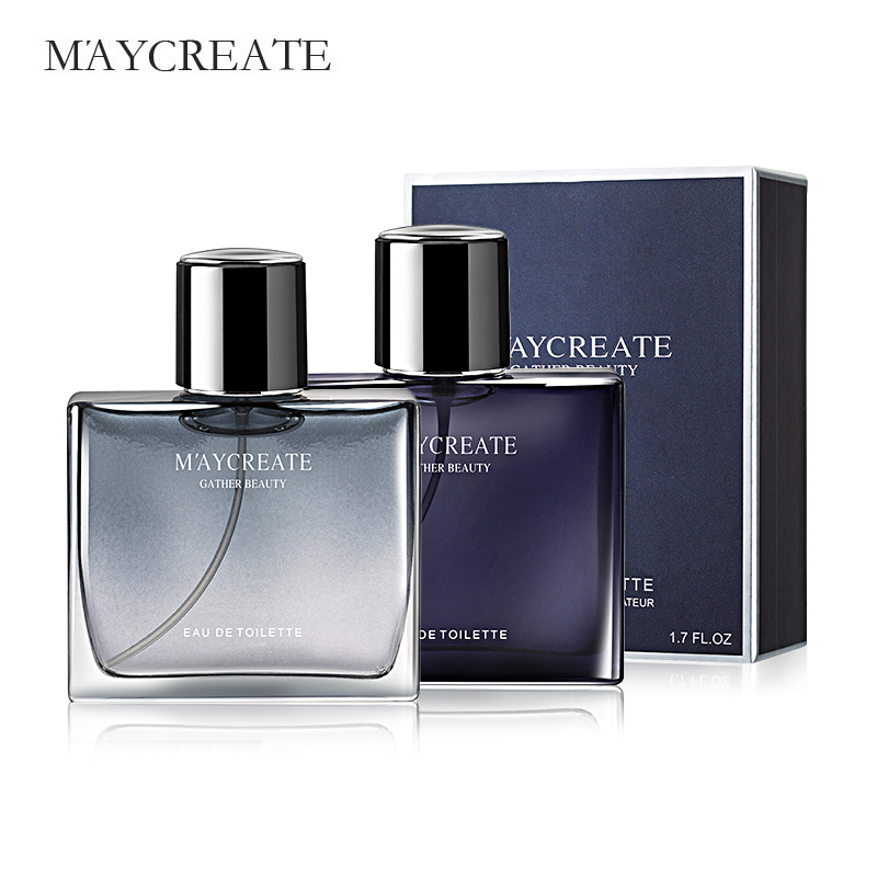 MayCreate 50ml Men Perfumed Portable For Men Perfumed Brand Fresh Lasting Fragrance Male Parfum Spray Glass Bottle Perfumed