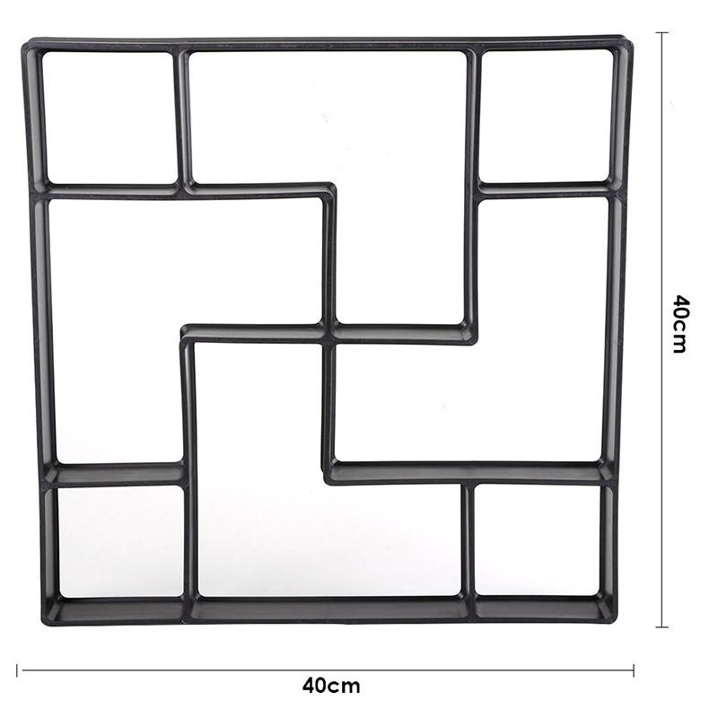 Садовая тротуарная форма, цементная Штукатурная плитка, ручной скребок, отделочный шпатель, нож, каменный скребок, грязевая доска, выскабливающая плитка - Цвет: K