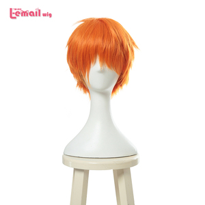 Image 1 - L email wig Brand New Fruits Basket Kyou Souma Cosplay Wigs 25cm Short Heat Resistant Synthetic Hair Perucas Cosplay Wig