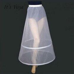 C'est Yiiya femmes blanc 2 cerceaux a-ligne accessoires De mariage mariée Crinolines Vestidos De Novia sous-jupe l'agitation Petticots PJ025
