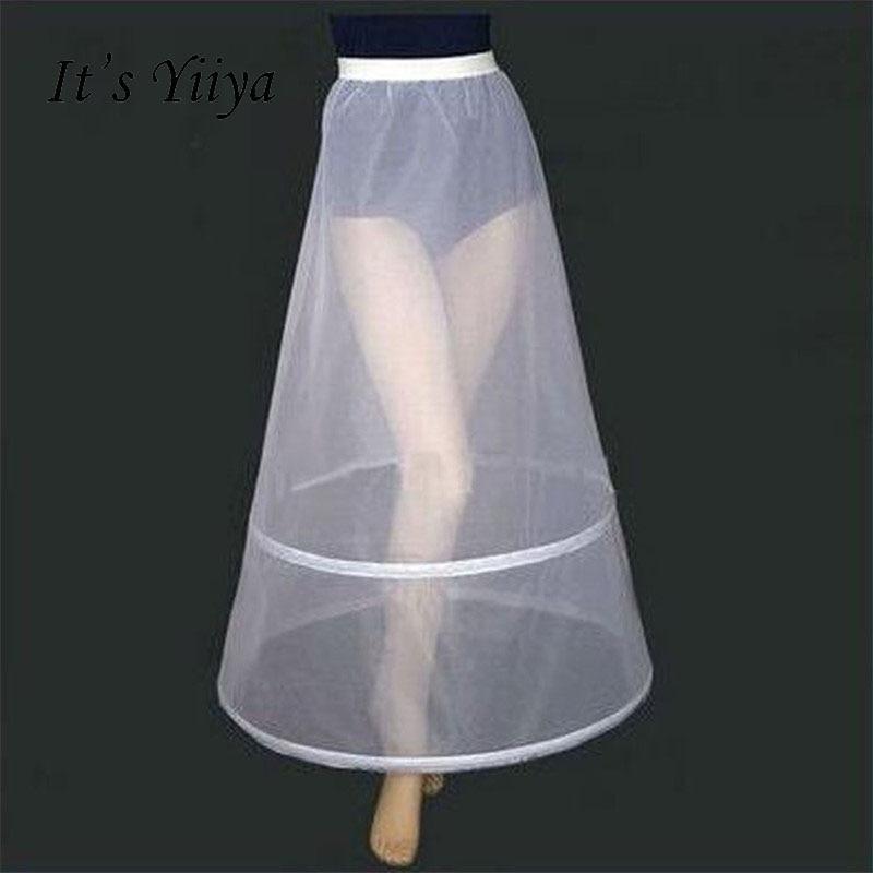 It s Yiiya Women White 2 Hoops A line Wedding Accessories Bridal Crinolines Vestidos De Novia