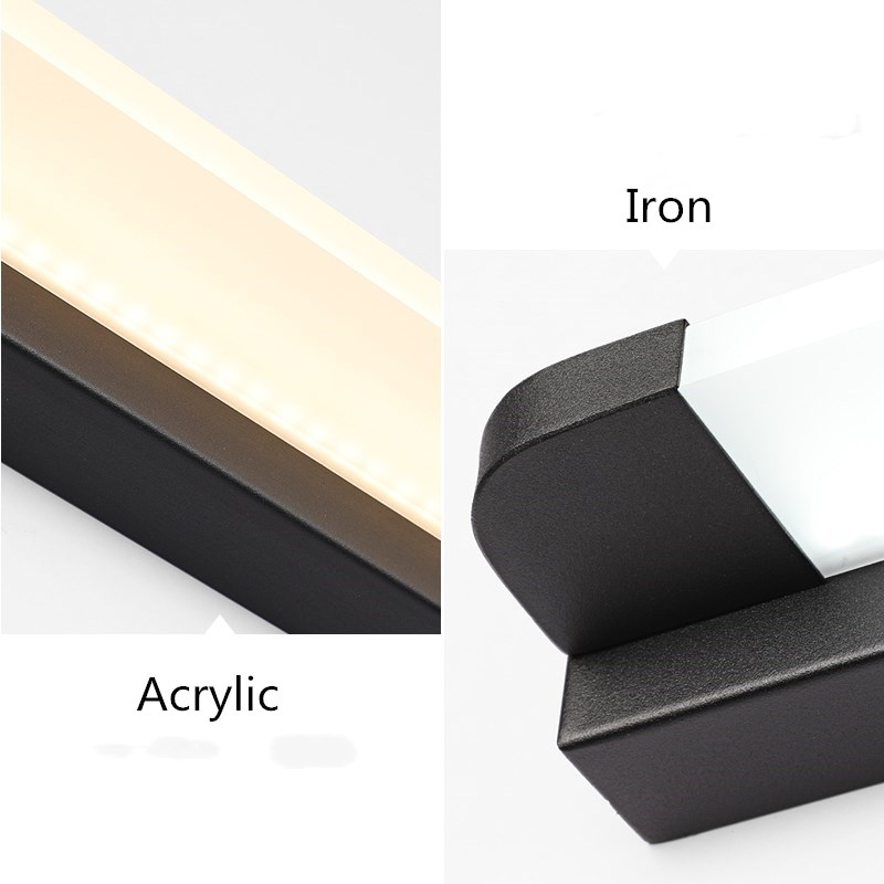 Image 4 - New LED Mirror Light 46 66cm 7W/14W AC110 240V Waterproof Modern Cosmetic Acrylic Wall Lamp For Bathroom Light-in LED Indoor Wall Lamps from Lights & Lighting