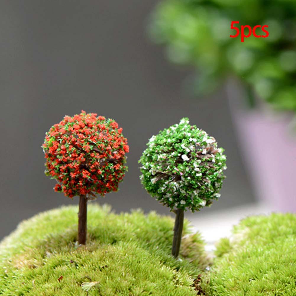 5Pcs Miniature Bonsai Craft Garden Pot Landscape DIY winter coat girl Decor