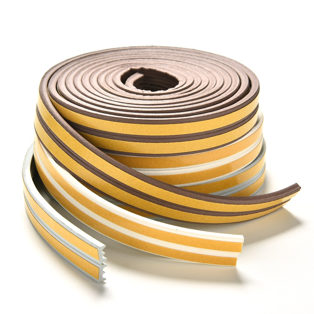 2.4m D/E/I Type Self Adhesive Seal Strips Foam Draught Excluder Self Adhesive Window Door Seal Strip For Hardware Tools