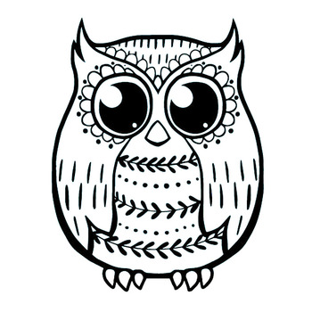 11.6X15CM Wise Owl Interesting Vinyl Car Sticker Decal Black/Silver Car Accessories S6-2547 image