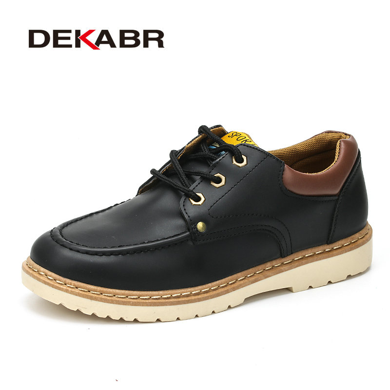 DEKABR Fashion Men Shoes Spring Autumn Lace-Up Breathable Rubber Youth Shoes Man Comfortable Footwear Adult Causal Shoes For Men new 2017 spring autumn graffiti men casual shoes patchwork lace up rubber sole men shoes canvas fashion male footwear rmc 706