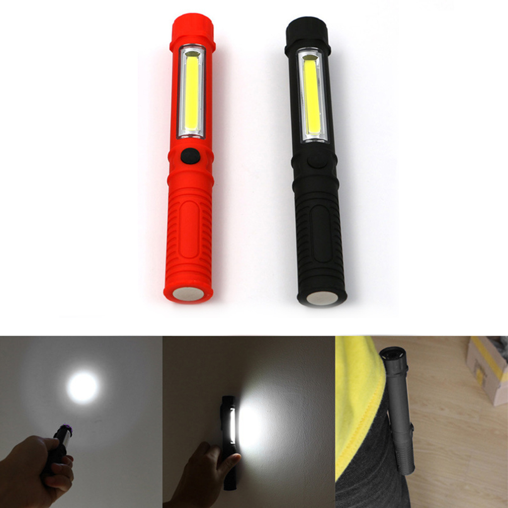 ICOCO High Quality Outdoor Portable LED Magnetic Mini Flashlight Waterproof Torch Clip Light For Camping Hiking Diving COB Light