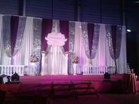 Роскошные Сирень Блестящие серебряные свадебные фон занавес Свадебные украшения