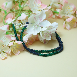 Image 3 - Vintage Classic Natural Stone Jewelry Delicate Sapphires Emeralds Multicolors Beaded Chain Choker Necklace