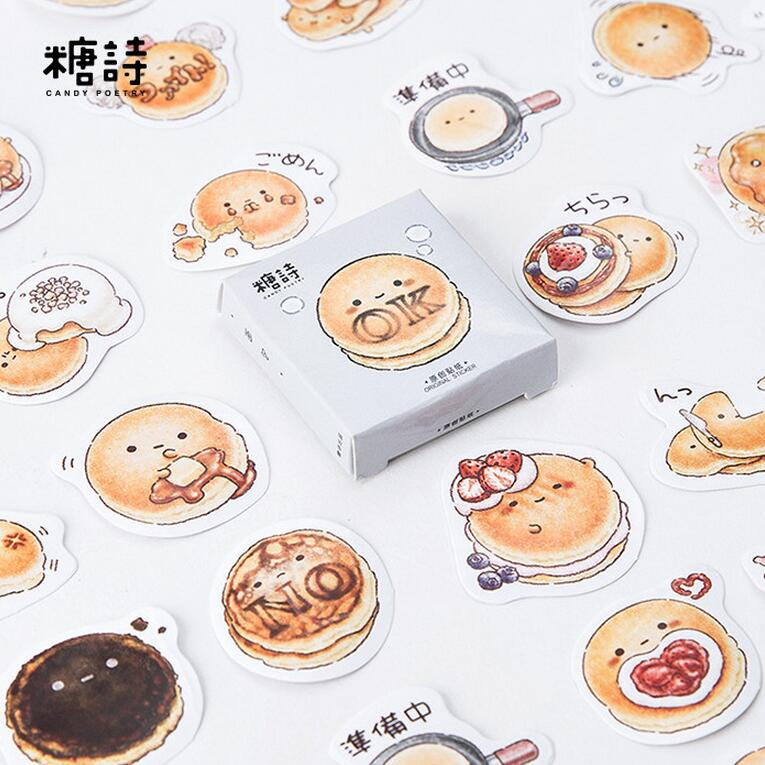 45 pcs/pack Cute Round Delicous Bread Decorative Stickers Adhesive Stickers DIY Decoration Diary Stickers cow spots decorative stair stickers
