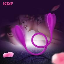 KDF Intimate Goods Vibrators For Women Erotic Sex Toys Dildo Double Penis Masturbator Female Lesbian Masturbation For Adults