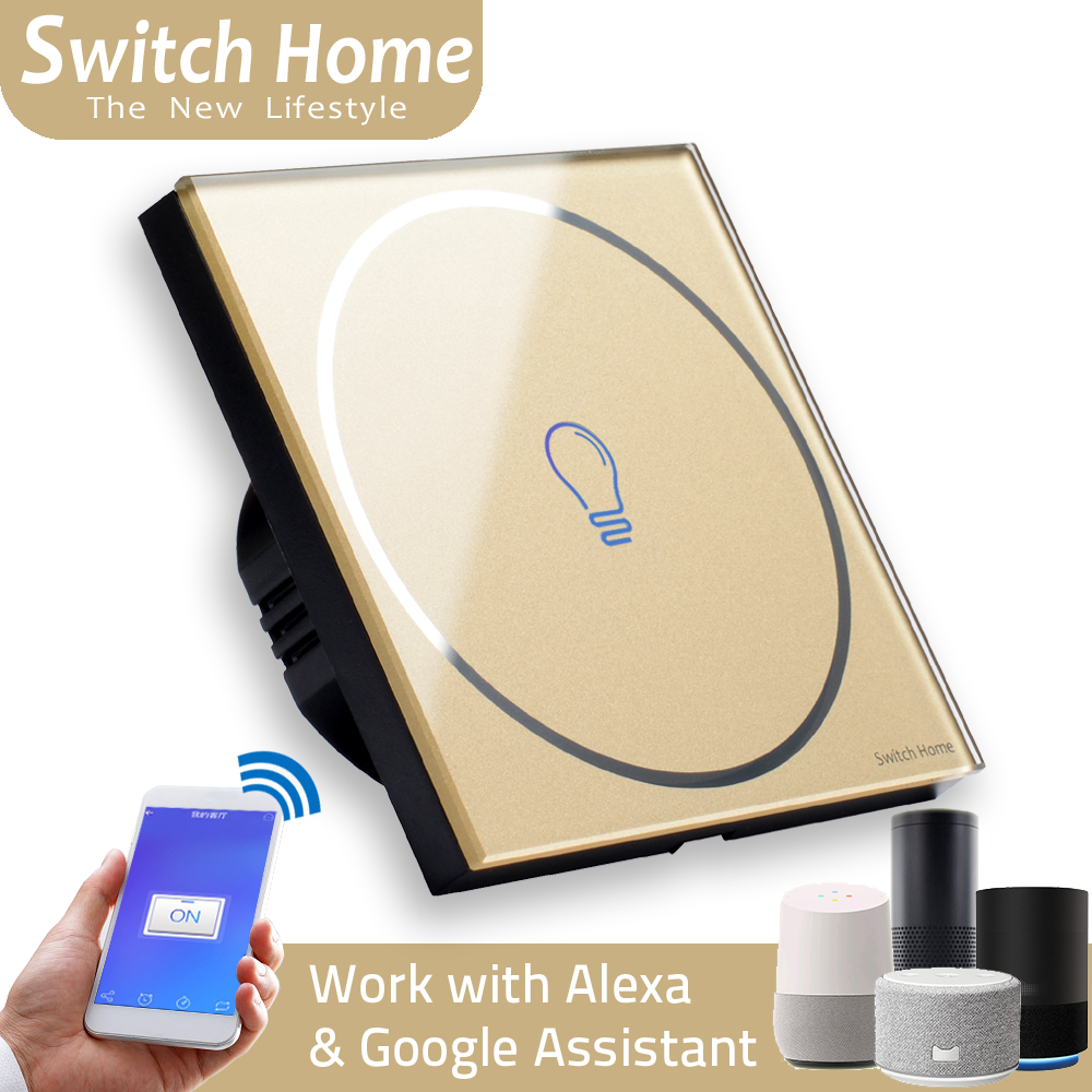 new type wifi touch switch, Smart Sensor wifi light switch, Wireless Remote Control smart switch, EU/UK Glass panel wall Switch