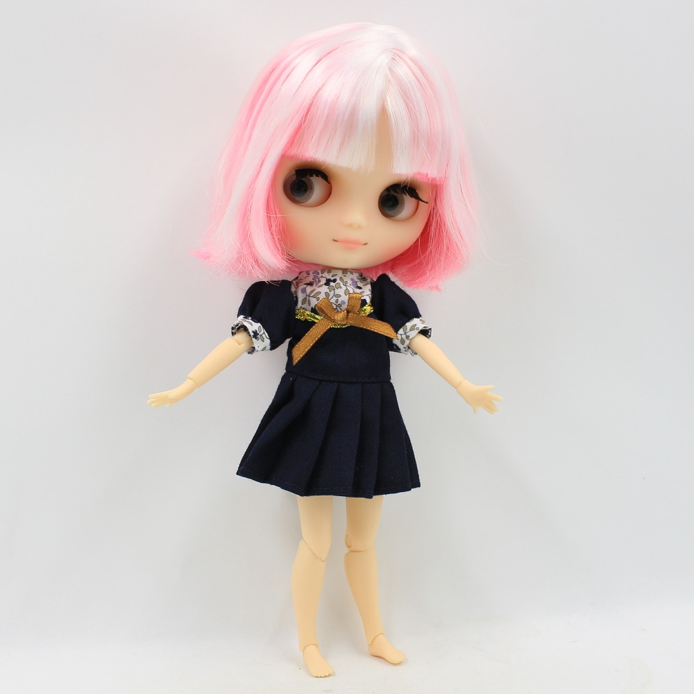 Бесплатная доставка Срединная Блит Кукла Совместное тела белый микс розовый 1/8 20 см БЖД игрушка в подарок fortune дней