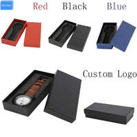 Black/red/blue gift paper box wristwatch Box for Watch EVA pillow relogio boite de rangement pour montre montre boite rangement