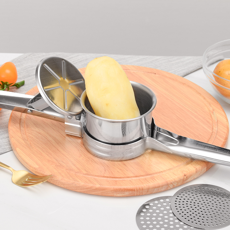Potato Mashers Ricers Kitchen Cooking Tools Stainless Steel Pressure Mud Puree Vegetable Press Maker Garlic Presser