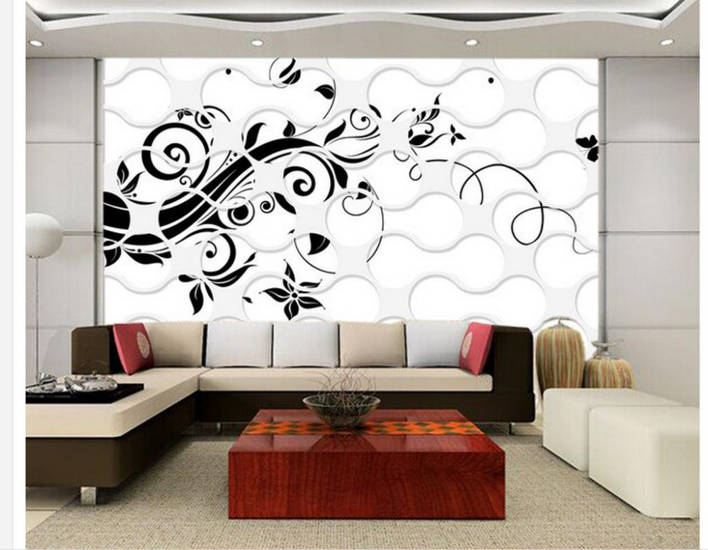 3d bathroom wallpaper mural 3d wallpaper black flower for Bathroom mural wallpaper