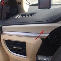 For Toyota corolla E170 2014 2015 ABS Matte Car Interior Central Driver Control Dashboard Cover Trims Auto Parts 4pcs/set
