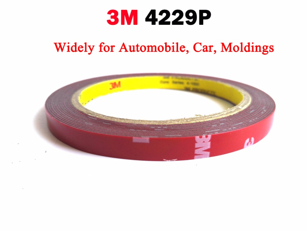 VHB Double Sided Adhesive Acrylic Foam Tape 4229P, Special for Automobile Card  body side Moldings,ABS and PVC etc. 3meters long car styling abs chrome body side moldings side door decoration for hyundai ix35