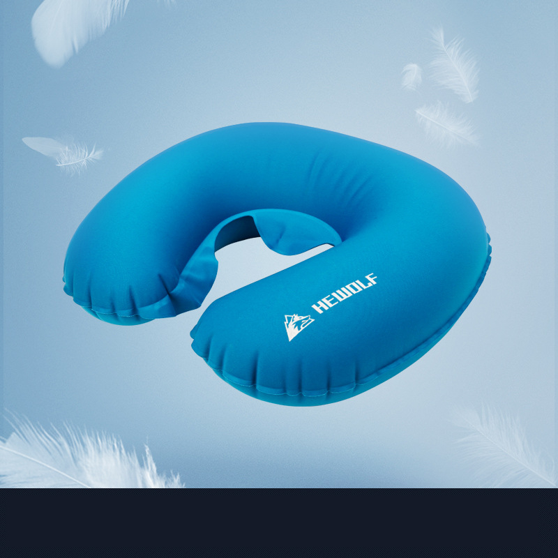 Image 4 - VILEAD Portable U shape Camping Pillow 36*31 cm Outdoor Hiking Travel Inflatable Cushion Plane Beach Sleep Ultralight Soft Mat-in Camping Pillows from Sports & Entertainment