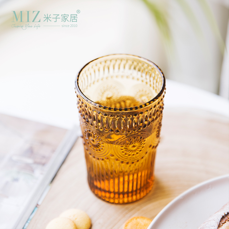 Miz Brown Color Glass Wine Glass Beer Glass Cocktail Party Supply Champagne Glasses Drinking Glasses High Quality
