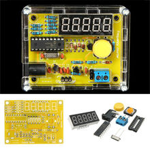 DIY Частота Тестер 1 Гц-50 МГц Кристалл Счетчик Метр С Жильем Комплект акриловый корпус box