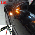 2 unids car styling Encendido Indicador de Señal de Luz Para Chevrolet Cruze TRAX Aveo Captiva Lacetti Epica Sail Citroen C3 C4 C5 C2