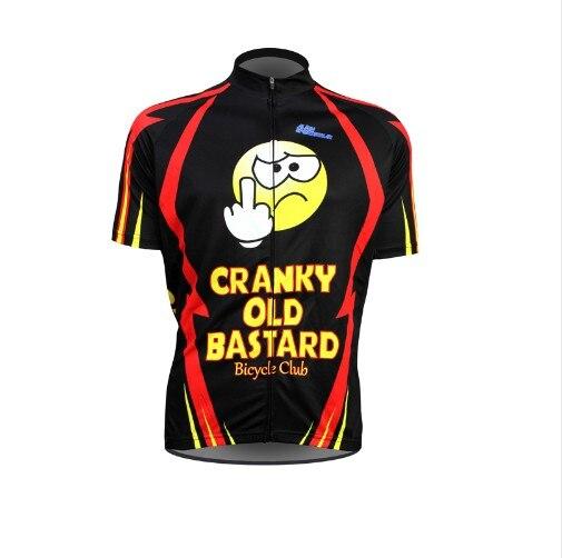 Prix pour Cyclisme 2016 nouveaux hommes Ropa de Ciclismo Nouveau Grincheux Vieux Bâtard Vélo Jersey d'été courte drôle Vélo Clothing de bande dessinée Vélo Shir
