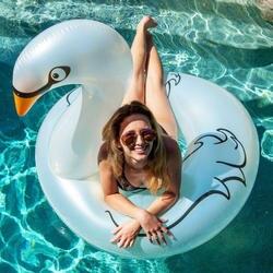 115*96 см гигантский жемчужно-белый лебедь плавание кольцо ездить на надувной бассейн Float пляж воды вечерние игрушки матрац лежак шкафа