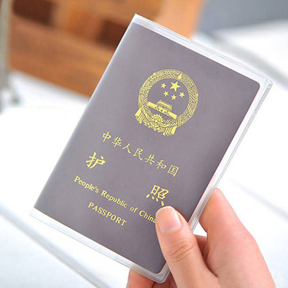 Passport Cover Size 13.5*19cm PVC Transparent Dull Polish Passport  Clear Card ID Cover  For Travelling Passport Bags
