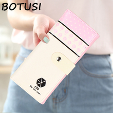 BOTUSI Long Female Clutch Wallet Ladies Purse Design Money Bag For Dollar Price Women EXO star Gifts for young people цена 2017
