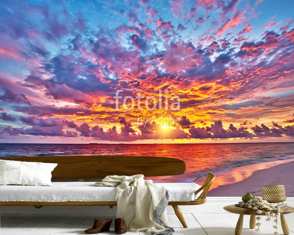 online get cheap beach wallpaper murals aliexpress com alibaba custom beach wallpaper murals maldives in the ocean natural landscape mural for living room