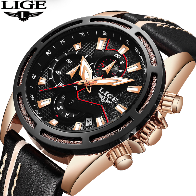 LIGE Mens Watches Top Brand Luxury Mens Military Sports Watch Mens Stainless Steel Waterproof Quartz Clock Relogio Masculino nakzen men watches top brand luxury clock male stainless steel casual quartz watch mens sports wristwatch relogio masculino