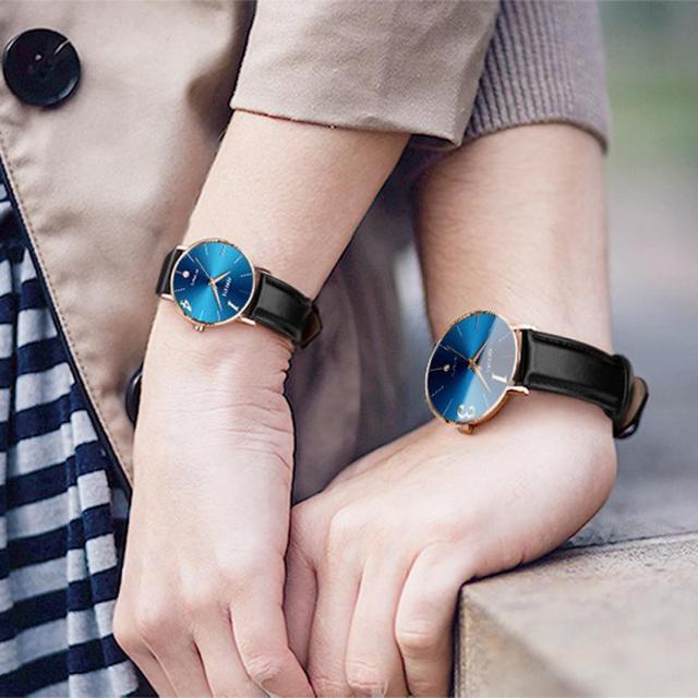 Men Women Couple Watches Megir Fashion Leather Strap Sport Watch Reloj 2018 Luxury Top Brand Bracelet Watches Wrist 18Jul17