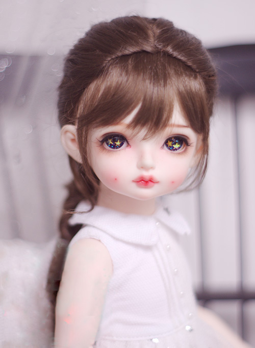 все цены на BJD doll wigs Mix-golden dark brown long curly hair wigs for 1/3 1/4 1/6 1/8 BJD DD SD MSD YOSD doll Imitation mohair