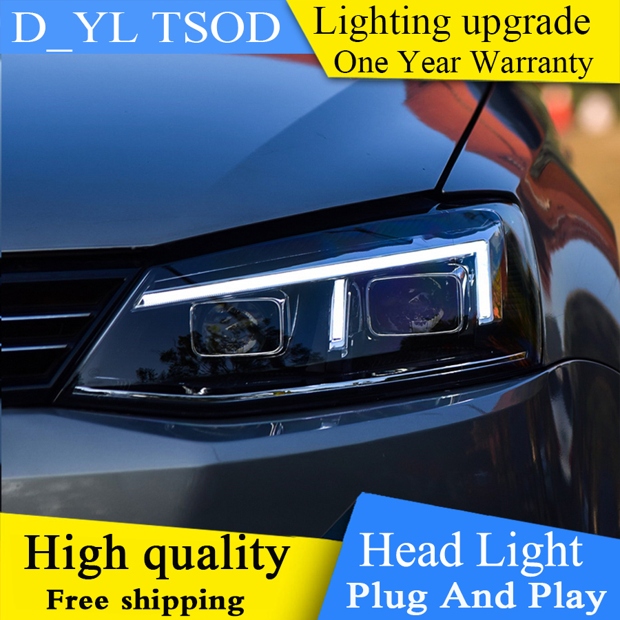 Car Styling For vw jetta headlights 2012 2017 For VW jetta MK6 head lamps with LED