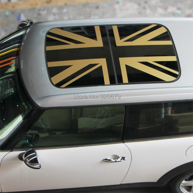 Aliexpress Com Buy Golden Union Jack Roof Graphic