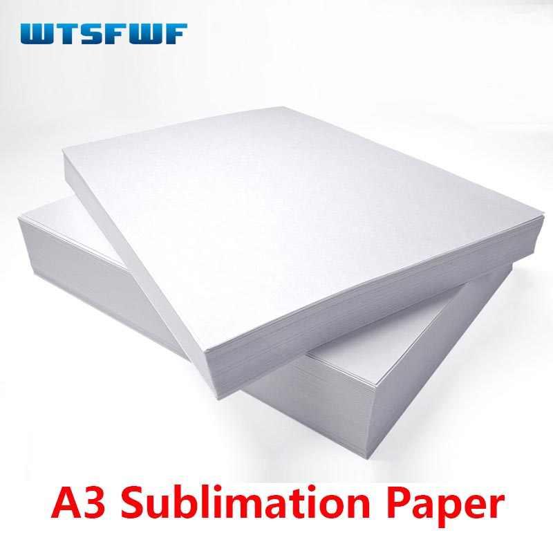 Wtsfwf 50 Pcss/Banyak A3 Putih Sublimasi Transfer Paper Kertas Thermal Transfer Kertas untuk Mug Penutup Telepon T-shirt Piring printing