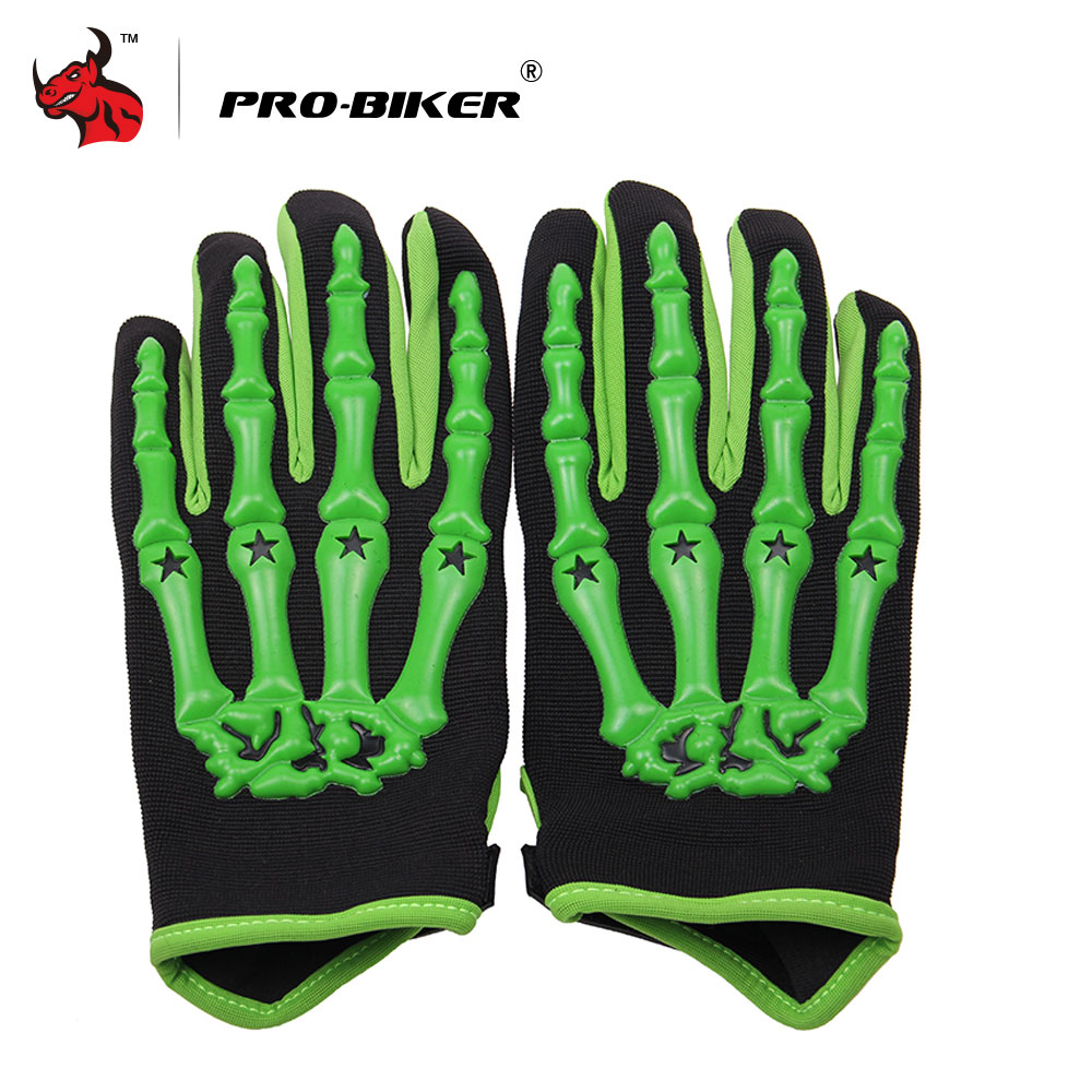PRO-BIKER Skull Style Motorcycle Gloves Motorcycle Riding Gloves MTB Bike Bicycle Cycling Full Finger Gloves Luva Moto Gloves qepae f7506 comfortable professional motorcycle bicycle full finger gloves red black pair xl