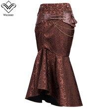 Wechery женские юбки сексуальный длинный макси стимпанк эластичные юбки хлопок горсет плиссированные юбки винтажный корсет вечерние свадебные юбки