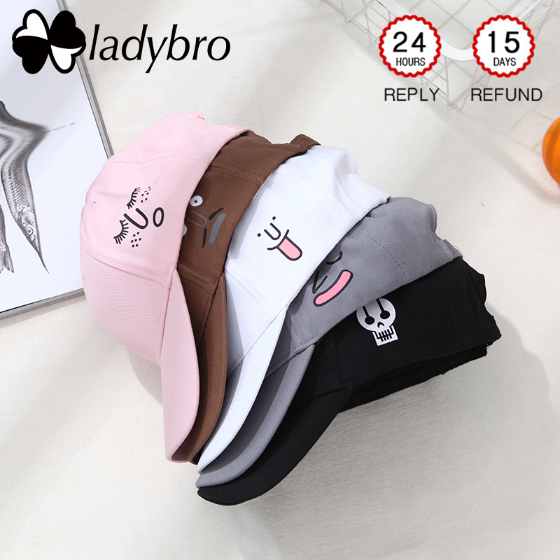 Ladybro Women Hat   Cap   Men Casual Expression Black   Baseball     Cap   Male Snapback Hats For Female Dad Hat Hip Hop   Cap   Cute Pink Bone