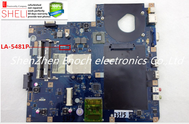 LA-5481P for acer 5517 5532 E627 Motherboard NCWG0 L02,Free AMD CPU included SHELI store 60days warranty. da0ze6mb6e0 for acer aspire one d257 motherboard mbsfv06002 atom 1 6ghz grade a sheli store 60days warranty