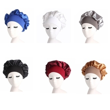 Women Satin Sleep Cap Full Coverage Soft Night Sleep Hat Cap Chemotherapy Cap