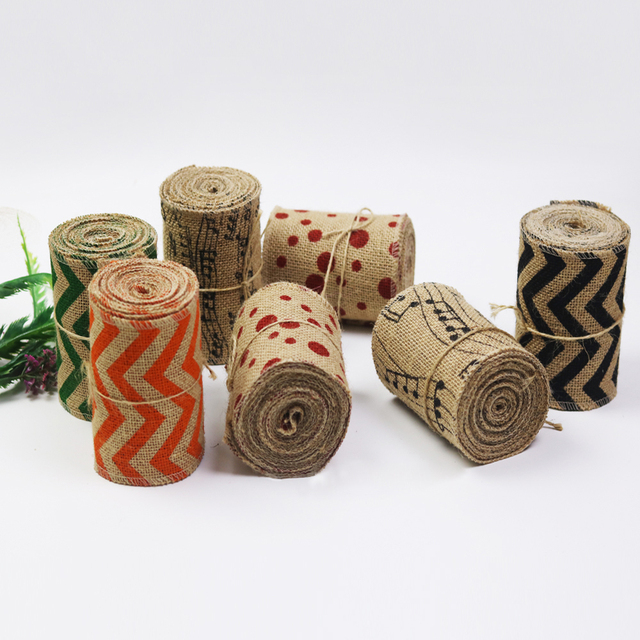 4M/Roll 12cm Width Natural Jute Burlap Hessian Ribbon Roll Wedding Centerpieces Decoration Rustic Festive Party Supplies