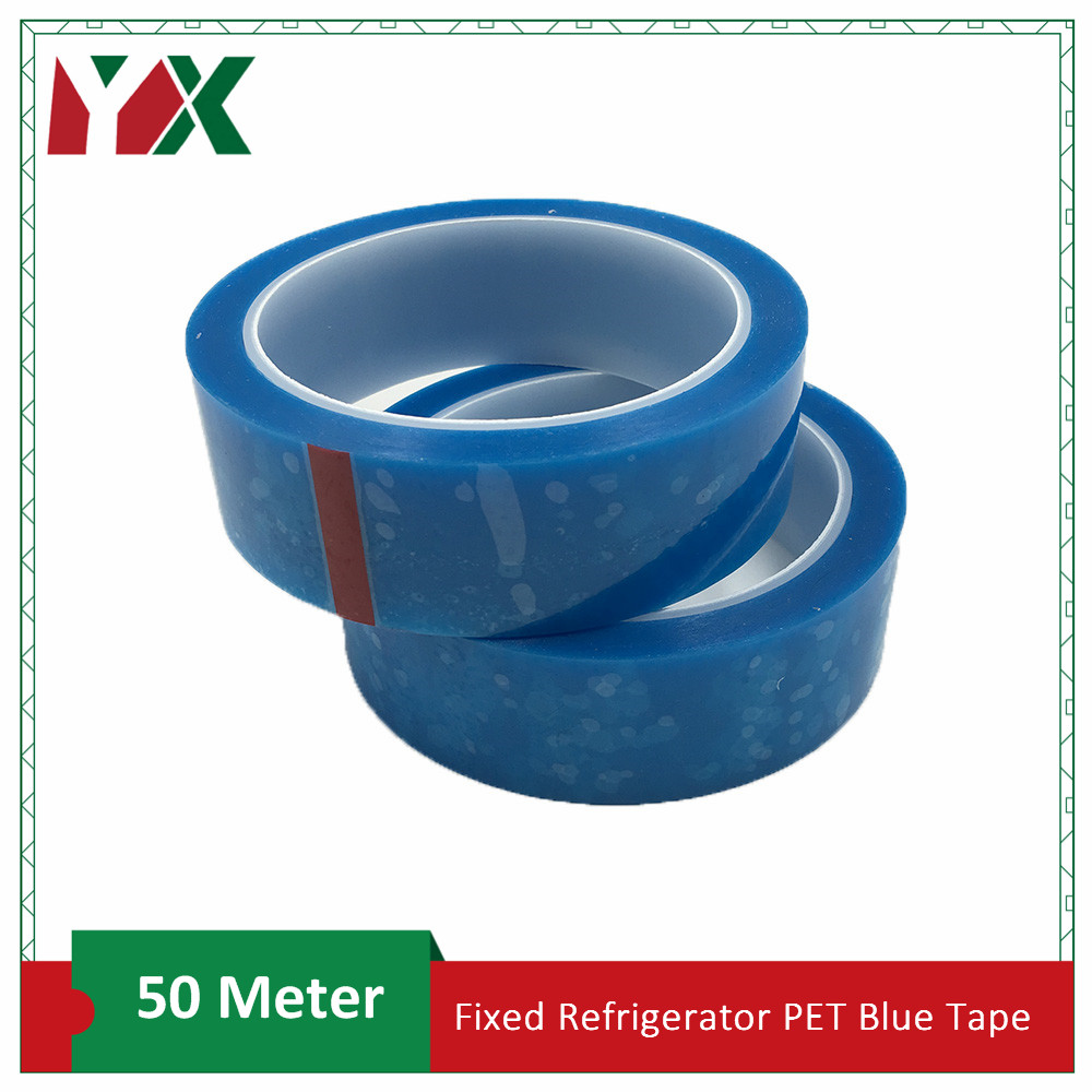 2Pack 12mm Fixed Refrigerator PET Blue Tape Appliance Facsimile Printer Air Conditioning Parts Fixed Tape 50meter/Roll
