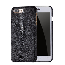 wangcangli custom made for iphone case Pearl fish cover leather phone 8 Handmade
