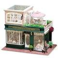 Miniatura de móveis casa de bonecas diy casas de boneca em miniatura casa de bonecas de madeira feitos à mão brinquedos para crianças presente de aniversário A-028