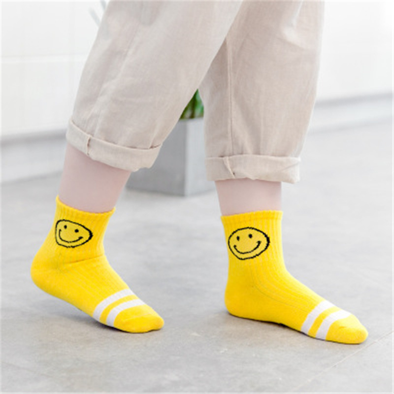 5 Pair/lot Kawaii Pattern Cotton Kids Socks Baby Breathable Boys Girls Socks For Children Sock 5 Kinds Style Suitable For 1-3Y