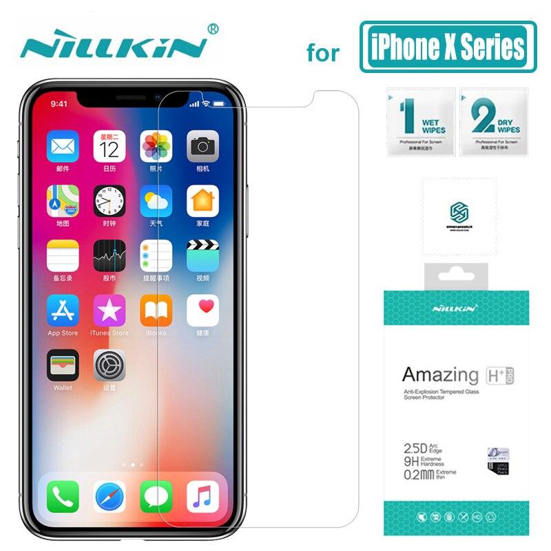 Nillkin para iPhone XS Max XR X Glass Amazing 9 H/H + Pro Protector de pantalla de vidrio templado para Apple iPhone X XS Max Nilkin Glass