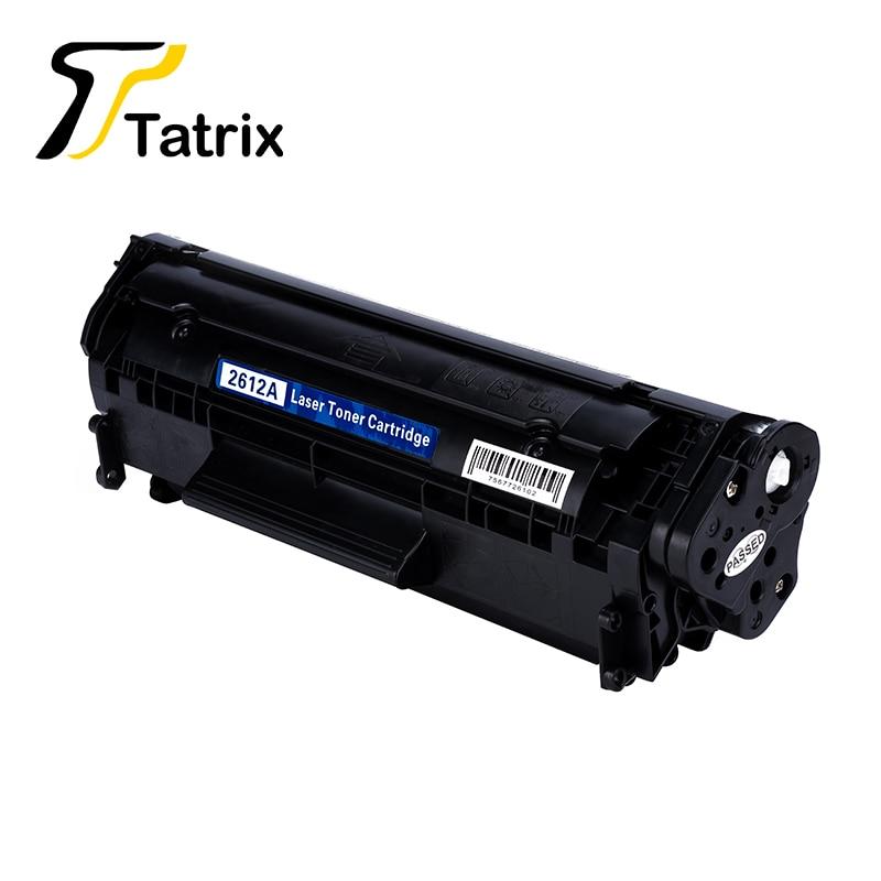 Tatrix Q2612A 12A 토너 카트리지, HP LaserJet 1010 1012 용 1015 - 사무용 전자 제품
